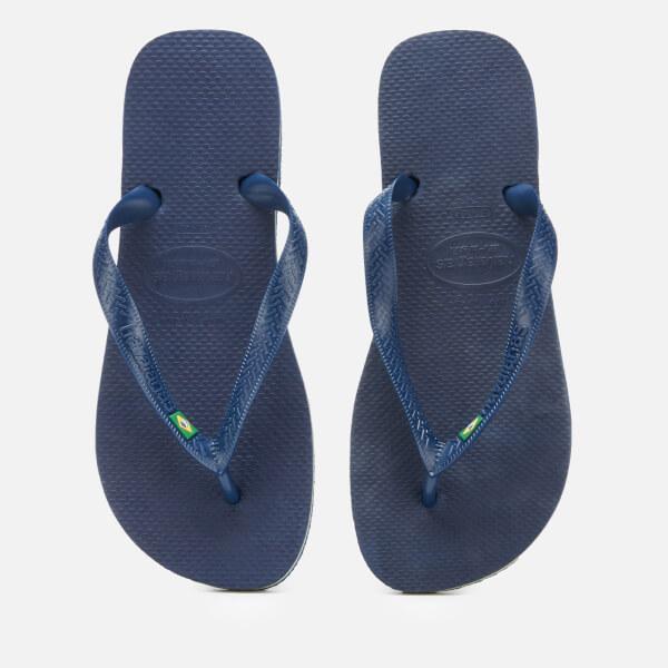 0c1a271fb Havaianas Men s Brasil Flip Flops - Navy Blue  Image 1