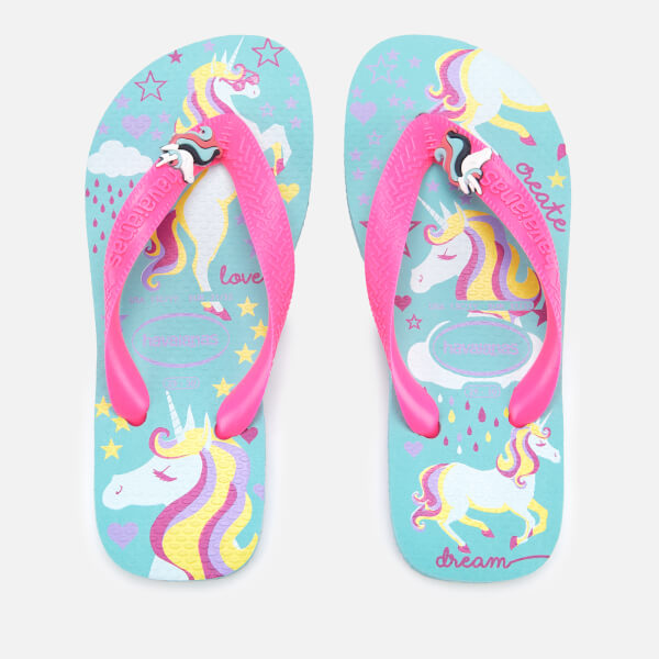 db2ba3052d9a Havaianas Kid s Fantasy Flip Flops - Ice Blue Shocking Pink  Image 1