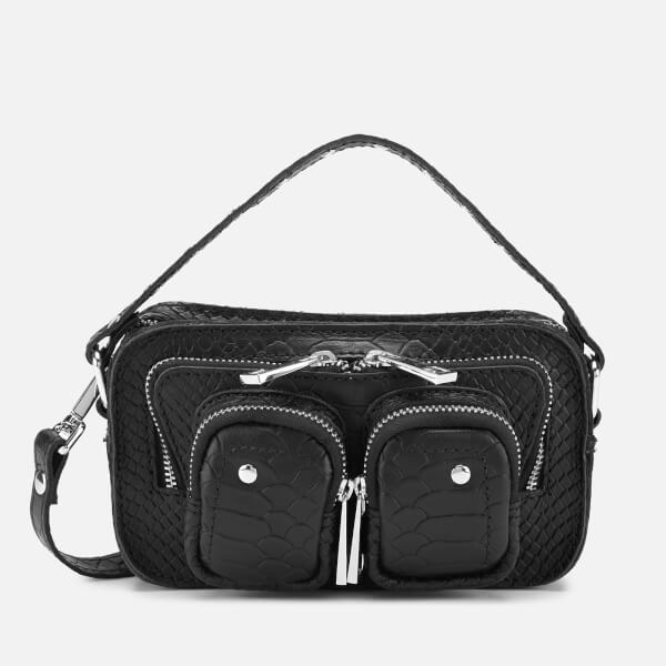 Núnoo Women's Helena Python Cross Body Bag - Black
