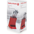 Morphy Richards 46291 5 Piece Knife Block - Red