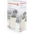 Morphy Richards 46292 5 Piece Knife Block - Cream