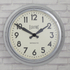 Newgate Giant Electric Wall Clock - Chrome