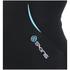 Skins Women's Coldblack Short Sleeve Top - Black/Blue: Image 3