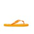 PE Beach Flip Flops with PVC Strap - Orange - Large: Image 2