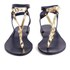 Ancient Greek Sandals Women's Ismene Leather Sandals - Marine/Platinum: Image 4