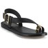 Ted Baker Women's Prendie Toe Post Leather Sandals - Black/Gold: Image 5