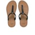 UGG Women's Bria Leather Flip Flops - Black: Image 1