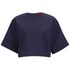 HUGO Women's Criske Cropped Top - Open Blue: Image 1