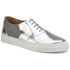 Folk Women's Isa Patent Leather/Suede Plimsoll Trainers - Silver: Image 5