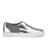 Folk Women's Isa Patent Leather/Suede Plimsoll Trainers - Silver: Image 1