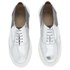 Folk Women's Isa Patent Leather/Suede Plimsoll Trainers - Silver: Image 2