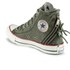 Converse Women's Chuck Taylor All Star Canvas Tri-Zip Hi-Top Trainers - Surplus Green: Image 5