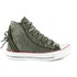 Converse Women's Chuck Taylor All Star Canvas Tri-Zip Hi-Top Trainers - Surplus Green: Image 1