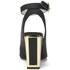 Kat Maconie Women's Amelia Leather Block Heel Ankle Strap Court Shoes - Black: Image 3