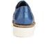 Grenson Women's Emily V Patent Leather Platform Brogues - Blue: Image 3