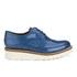 Grenson Women's Emily V Patent Leather Platform Brogues - Blue: Image 1