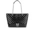 Love Moschino Women's Quilted Patent Shopper Bag - Black: Image 1