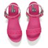 Love Moschino Women's Two Strap Patent Cleated Flatform Sandals - Pink: Image 2