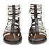Thakoon Addition Women's Taylor 2 Leather Stripe Gladiator Sandals - Black: Image 4