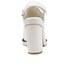 Jil Sander Navy Women's Leather Heeled Sandals - White: Image 3