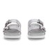 Ash Women's Takoon Double Strap Suede Sandals - Light Silver: Image 4