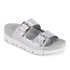 Ash Women's Takoon Double Strap Suede Sandals - Light Silver: Image 5