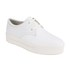 Ash Women's Keanu Cracked Leather Flatform Trainers - White: Image 4