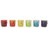 Le Creuset Stoneware Rainbow Espresso Mugs (Set of 6) - Multi: Image 1