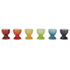 Le Creuset Stoneware Rainbow Egg Cups (Set of 6) - Multi: Image 4