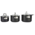 Le Creuset Toughened Non-Stick 3 Piece Saucepan Set: Image 4
