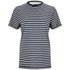 Victoria Beckham Women's Cap Sleeve T-Shirt - Navy/White Stripe: Image 1
