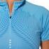 Asics Women's Shorts Sleeve Half Zip Running Top - Natural Blue: Image 3
