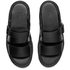 Dr. Martens Men's Shore Brelade Buckle Leather Slide Sandals - Black Brando: Image 2