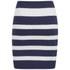 VILA Women's Cannon Striped Skirt - Black Iris: Image 2