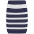 VILA Women's Cannon Striped Skirt - Black Iris: Image 1