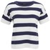 VILA Women's Cannon Striped Top - Black Iris: Image 1