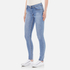 Cheap Monday Women's 'Second Skin' High Waisted Skinny Jeans - Stonewash Blue: Image 2