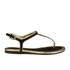 Lauren Ralph Lauren Women's Abegayle Metallic Trim Sandals - Black/Gold: Image 1
