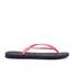 Havaianas Women's Slim Logo Flip Flops - Navy Blue/Pink: Image 2
