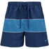 Zoggs Men's Water Check Woodgate 17 Inch Swim Shorts - Petrol Blue: Image 1