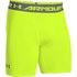 Under Armour Men's Armour Heat Gear Compression Training Shorts - Yellow/Graphite: Image 1