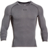 Under Armour Men's Armour HeatGear Long Sleeve Compression Top - Carbon Heather/Black: Image 1