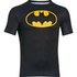 Under Armour Men's Batman Compression Short Sleeved T-Shirt - Negro/Amarillo: Image 1