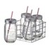 Parlane Jar Bottles With Straws - Clear: Image 1