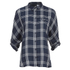 ONLY Women's Suki 3/4 Sleeve Check Shirt - Cloud Dancer Blue: Image 1