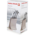 Morphy Richards 974801 5 Piece Knife Block - Barley: Image 5