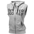 Better Bodies Women's Athletic Hoody - Grey Melange: Image 1