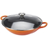 Le Creuset Cast Iron Wok with Glass Lid - 32cm - Volcanic: Image 2
