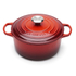 Le Creuset Signature Cast Iron Round Casserole Dish - 24cm - Cerise: Image 1