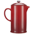 Le Creuset Stoneware Cafetiere Coffee Press - Cerise: Image 5
